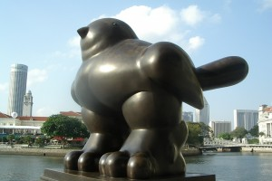 Fernando_Botero,_Bird_(1990),_Singapore_-_20040616